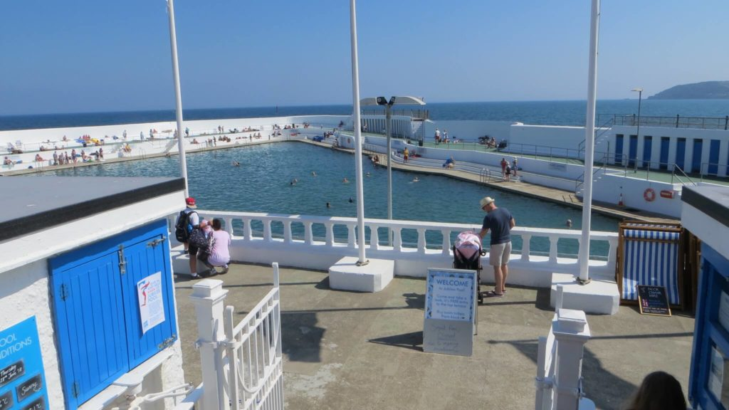 A photograph of the Jubilee Pool Lido Penzance