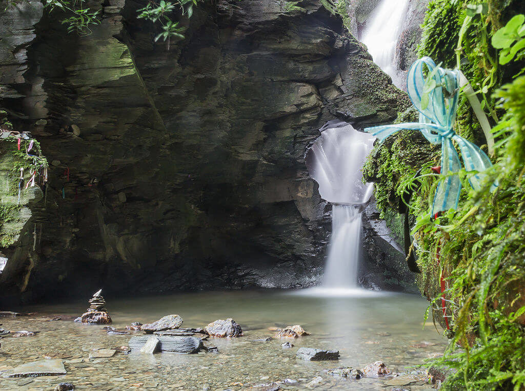 Photograph of St Nectan's Kieve near Tintagel