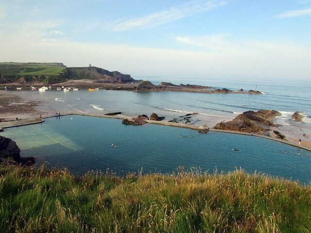A photograph of Bude sea pool at Summerleaze beach