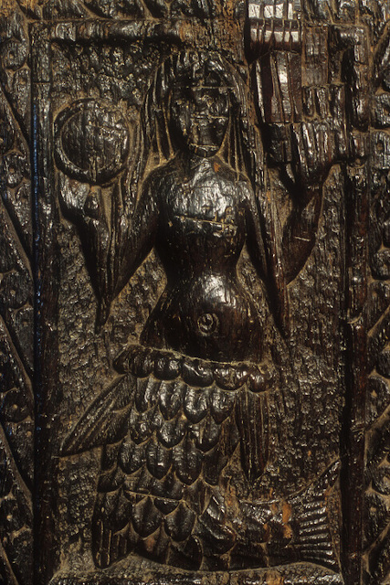 Wooden carving of the Mermaid of Zennor