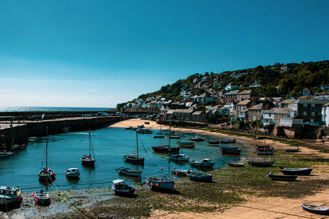 Mousehole Harbour in Cornwall, England